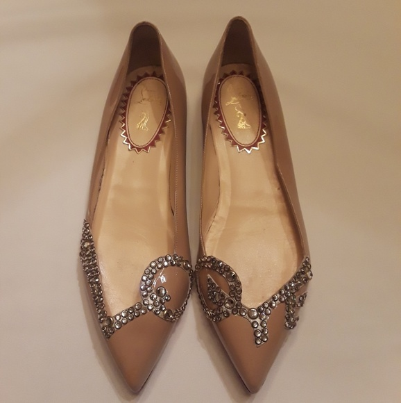 20bb857aa2e9 Christian Louboutin Shoes - Christian Louboutin pigalove flat nude